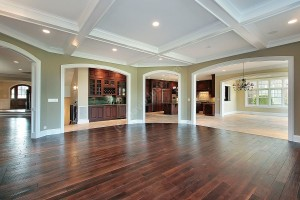 coffered ceiling open concept
